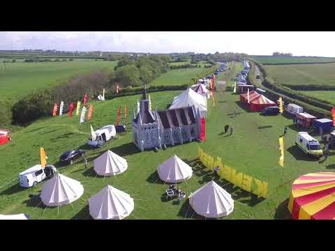 Drone footage of a Festival Theme Wedding with Bigtopmania