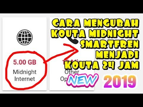 Cara Mengubah Kouta Midnight Smartfren Menjadi 24 Jam Ali Tv Youtube