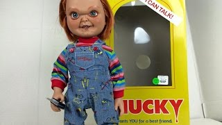 "Mezco Toyz 15"" Mega Good Guy Chucky Action Figure with Sound"
