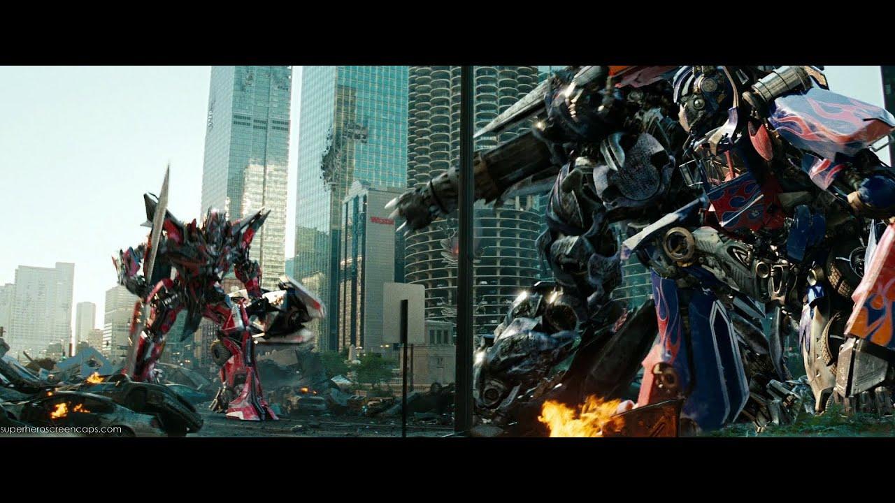 Transformers Dark Of The Moon Optimus Prime Vs Sentinel