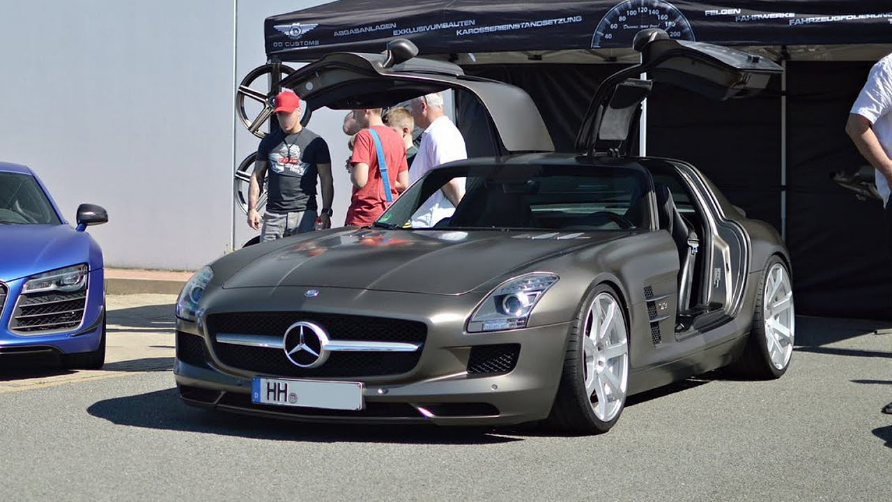 RIDE Mercedes SLS AMG by DD Customs EXTREME loud sounds