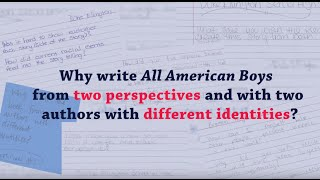 ALL AMERICAN BOYS co-authors Jason Reynolds and Brendan Kiely on writing together
