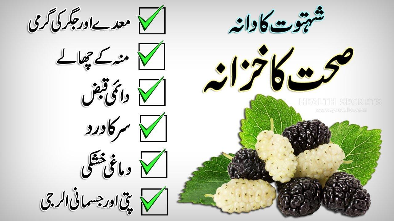Shahtoot Fruit Ke Fayde || Health Benefits Of Mulberry Fruit || In Urdu /  Hindi
