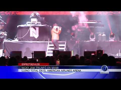 Nicky Jam triunfó en el American Airlines Arena de Miami