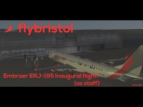 FlyBristol | Embraer ERJ-195 Inaugural flight! (Staff Perspective)