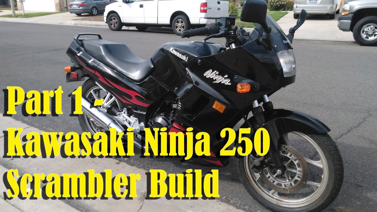 2007 Kawasaki Ninja 250 Cafe Scrambler Racer 250r Part 1 Youtube