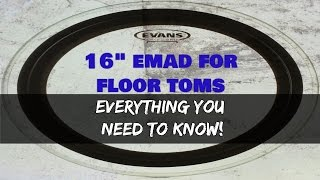 "*EVANS 16"" EMAD* For FLOOR TOM - Everything You Need To Know!"