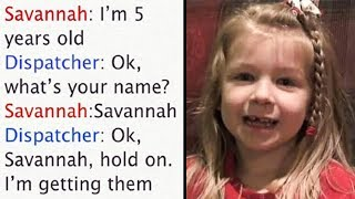 5-Yr-Old Saves Father's Life By Calling 911 – Her Conversation With Dispatcher Has Everyone Laughing