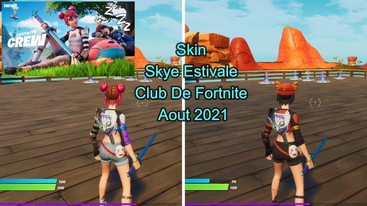 Skin Skye Estivale Club De Fortnite Aout 2021