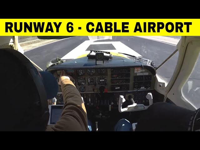 A quick lap in the traffic pattern at Cable Airport. KCCB Runway 6.
