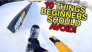 10 Things Beginner Snowboarders Should Avoid