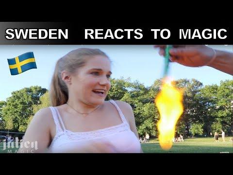 Sweden Reacts to magic🇸🇪 -Julien Magic