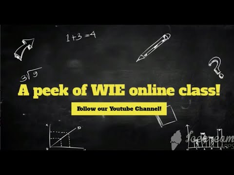 WIE's Face-to-face online English course