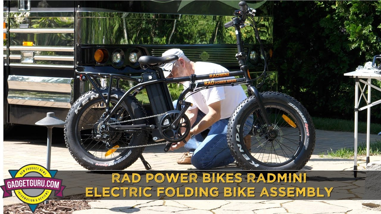 Gadget Guru Rad Power Bikes RadMini Folding Electric Bicycle Full