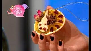 Как сделать елочные украшения из фруктов