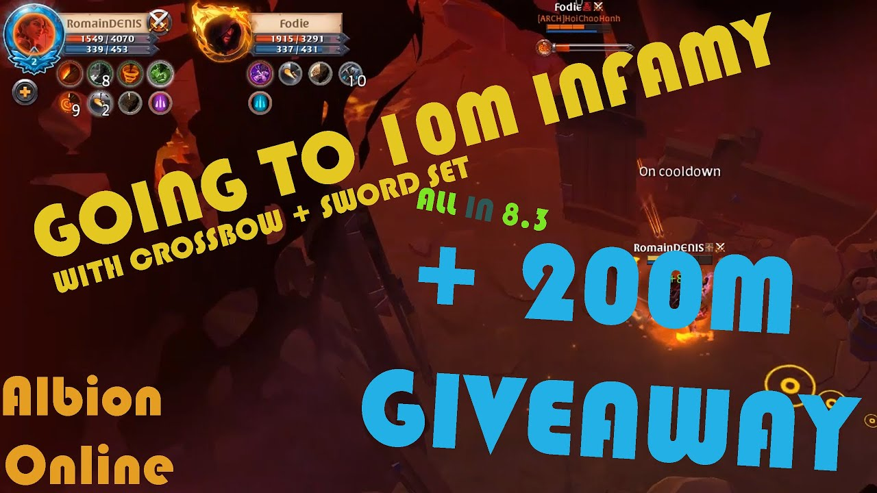 GOING TO 10M INFAMY in Corrupted + 200M Giveaway (my biggest giveaway ever) | FIGHT | Albion Online