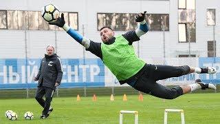 «Локомотив» — «Зенит»: открытая тренировка и брифинг Юрия Лодыгина