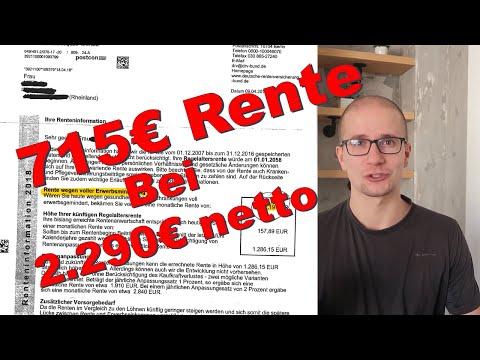 715€ Rente bei 2290€ Nettolohn - Die gefährliche Variable im Rentenbescheid