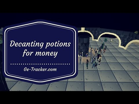 [OSRS Flipping/Merching] Decanting potions for money