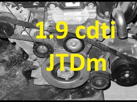 How To Replace Tensioner V Ribbed Belt 1 9 Cdti Jtdm Z19dth Z19dt