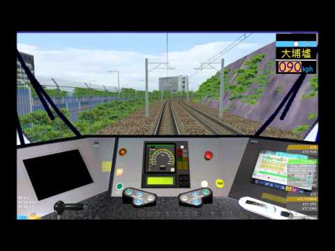 OpenBVE HD: MTR Kinki Sharyo SP1900 EMU East Rail Line Cab Ride (Lo Wu to Hung Hom)