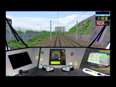 OpenBVE HD: MTR Kinki Sharyo SP1900 EMU East Rail Line Cab Ride (Lo Wu to Hung Hom)