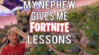 Fortnite (Nintendo Switch) - My Nephew Gives Me Fortnite Lessons Part 1 - Lessons 1 - 8