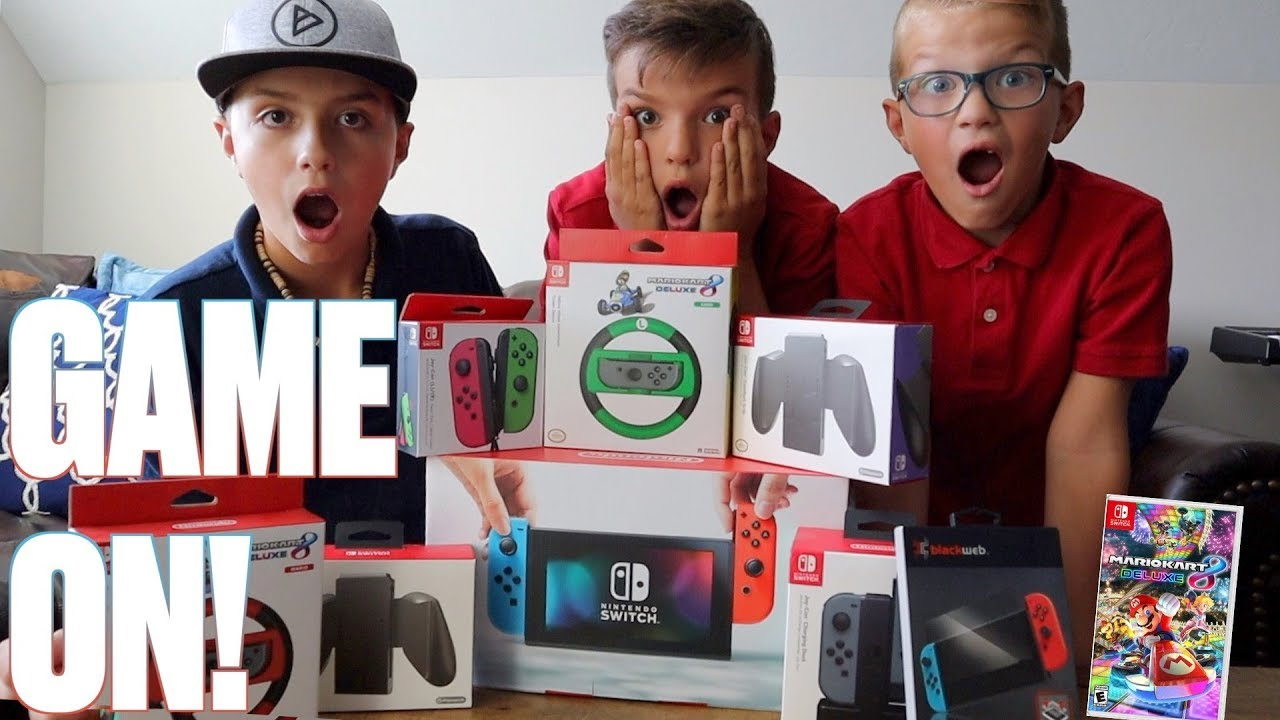 KIDS SAVE UP THEIR OWN MONEY TO BUY FAMILY'S FIRST VIDEO GAME CONSOLE | NINTENDO SWITCH