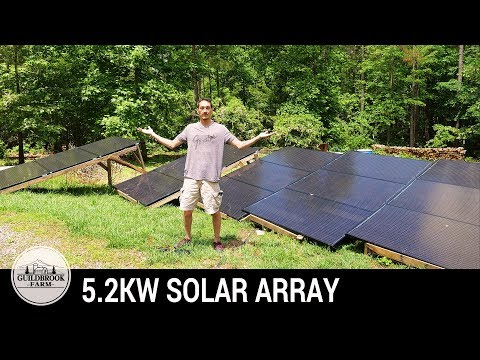 DIY Off-Grid Solar: Building a Renewable Energy 5.2 KW Solar Panel Array (Part 3)