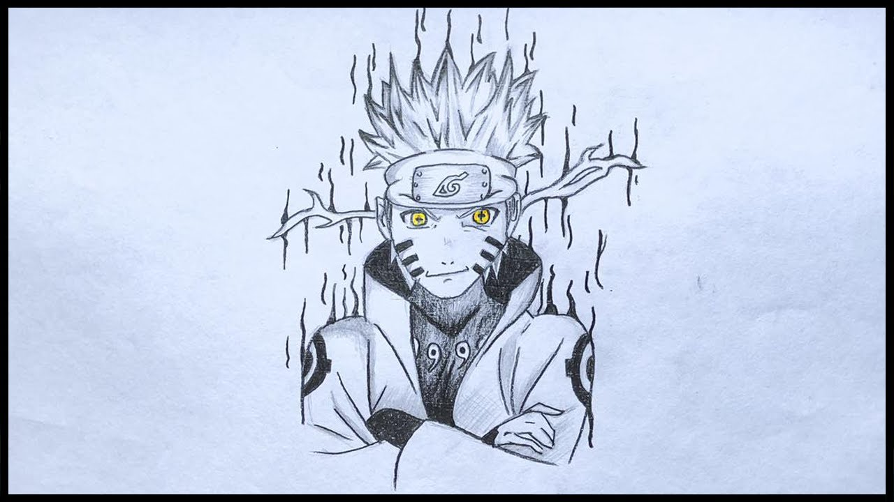 I draw Naruto only with a pencil | Ninja World |