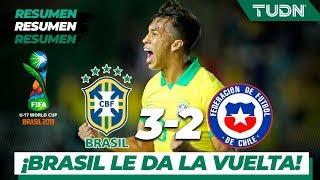 Resumen y Goles | Brasil 3 -2 Chile | Mundial Brasil Sub-17 - Octavos | TUDN