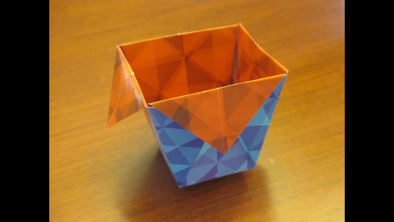 how to make an origami bincup youtube