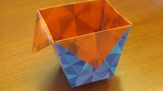 How to make an Origami Bin/Cup