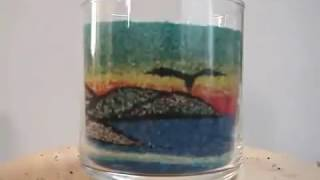 Cam kavanozda kum sanatı İzlemeye değer