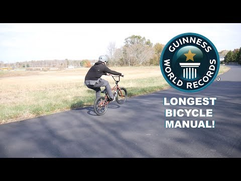 THE WORLDS LONGEST MANUAL! - Guinness World Records -