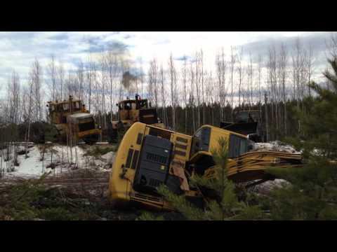 Т-40 и Т-25 Буксует - YouTube