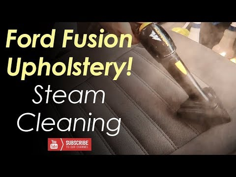 Ford Fusion Cloth Upholstery Steam Cleaning // Real Time