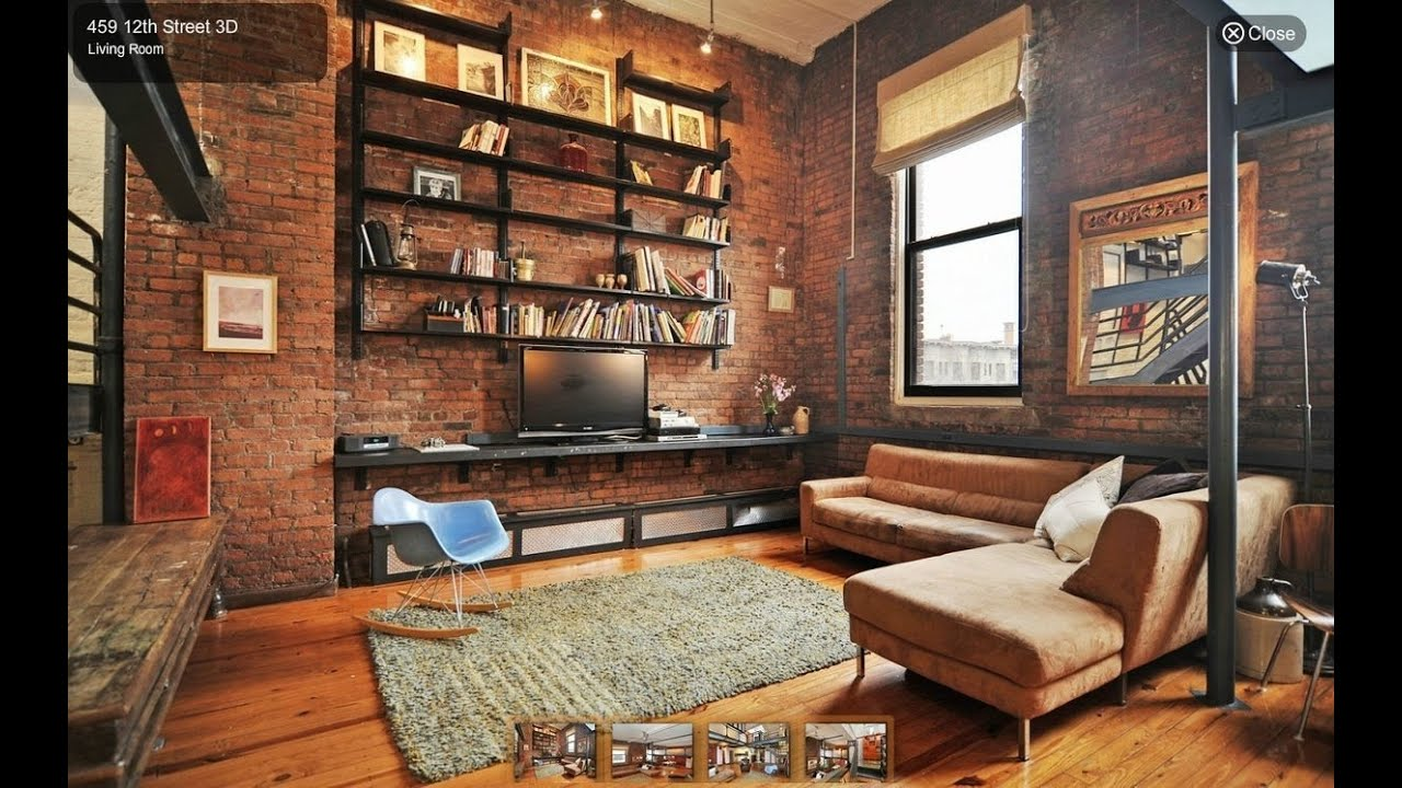 & Industrial Style Living Room Interior Design Ideas - YouTube