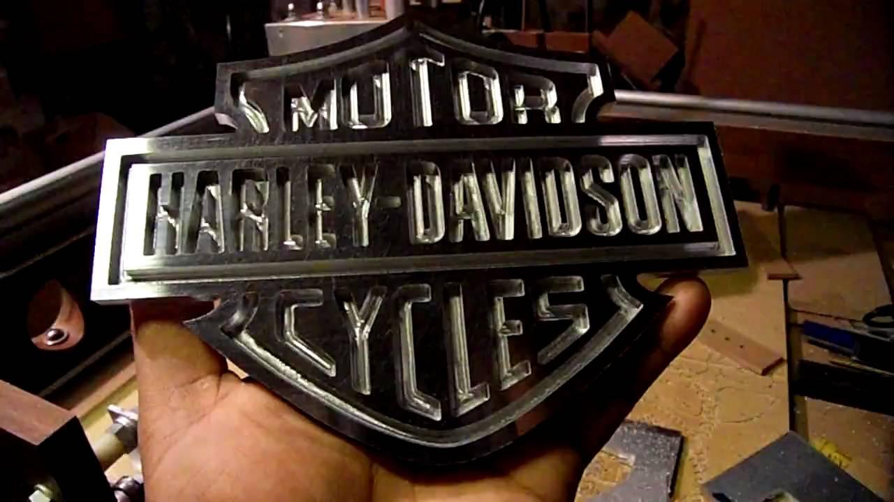 "Milling Harley-Davidson Logo Out Of 1/4"" Aluminum, Part 4"
