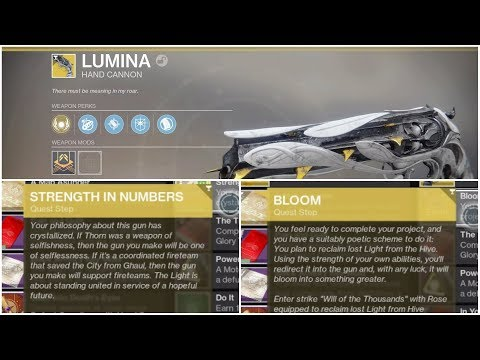 Destiny 2 Lumina Quest steps-Strength in Numbers & invasion kill-Bloom crystal locations-Destiny 2