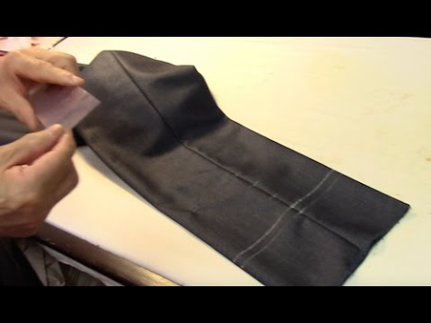 How To Hem And Cuff Dress Pants Youtube