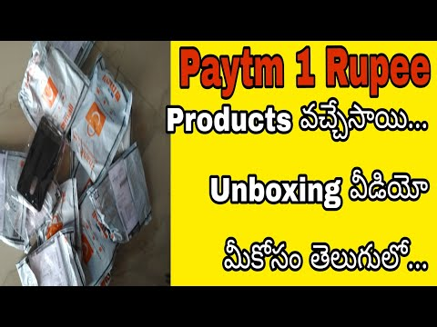 Paytm 1 Rupee Products Received 👌And Unboxing In Telugu|👌 Only On SSR Tech In Telugu👌|