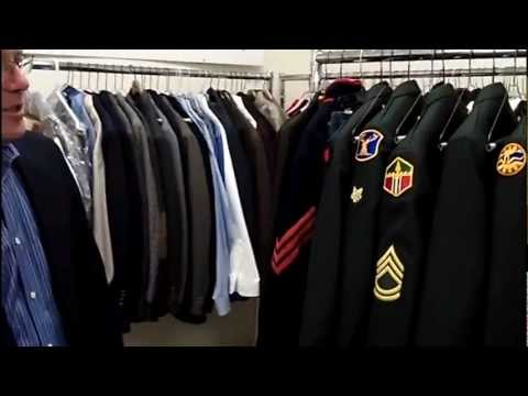Clothesline Cleaners washes military uniforms for free.wmv