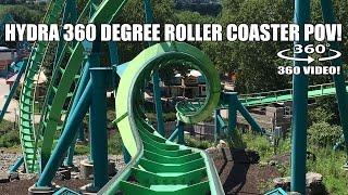 Hydra Roller Coaster 360 Degree POV Dorney Park Allentown PA - Filmed w/ Giroptic 360