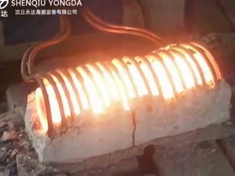 Big diameter round steel rods induction forge heating machine