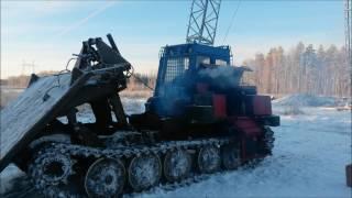 Трелевочный трактор ТТ-4М запуск в мороз