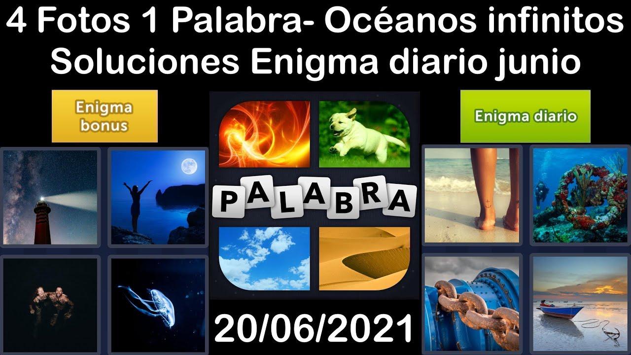 4 Fotos 1 Palabra - Océanos infinitos - 20/06/2021 - Solucion Enigma diario - junio de 2021