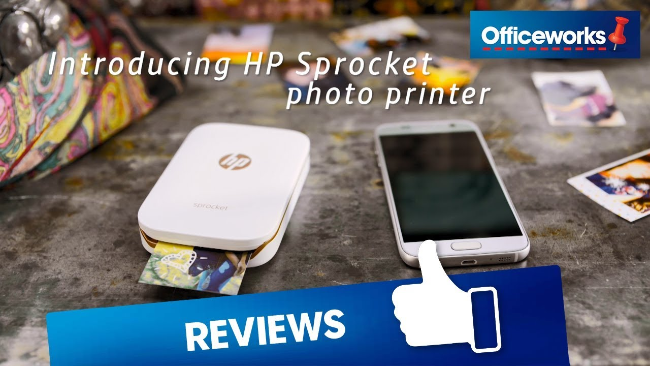Hp sprocket portable bluetooth photo printer officeworks