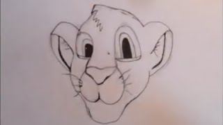 Drawing Simba (Lion king)- Collaboration with Emzy*