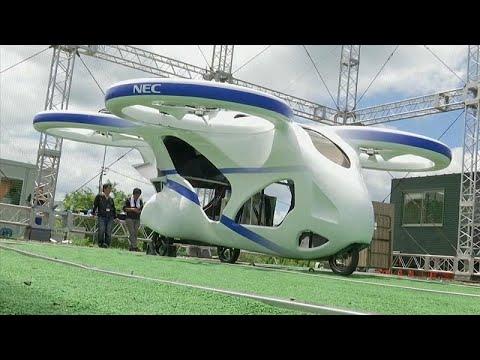 Japonya uçan elektrikli arabayı tanıttı | Video izle